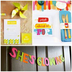 Baby Shower Ideas - Play on Words