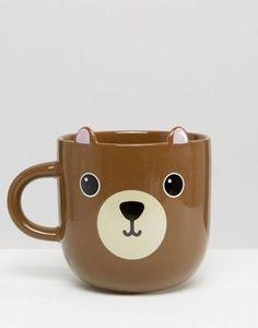 Very Cute Bear Mug $15.50 Useful for drinks - animal gift ideas for her during Christmas, holidays, & birthdays.