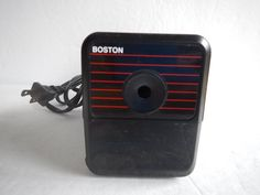 VTG BOSTON Hunt Electric Pencil Sharpener Model 18 Made in USA 296A Black #Boston