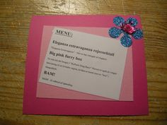 Suediogaga: Drag Queen menu-kort