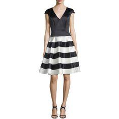 dd0e03c4a6b1 Jovani Cap-Sleeve Fit- -Flare Cocktail Dress ( 525) ❤ liked