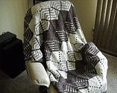 falynn   Sale Crochet Throw Afghan Shades of Grey Gray Black and White Zebra Print Zig Zag Chevron Blanket. $50.00, via Etsy.