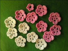 crochet sakura blossoms pattern, thanks for share xox