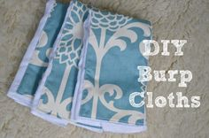 These pretty #DIY burp cloths were made using @Waverly fabric from @Charlotte @ Ciburbanity! #waverize