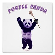 Purple Panda Lacrosse Posters from http://www.zazzle.com/lacrosse+posters