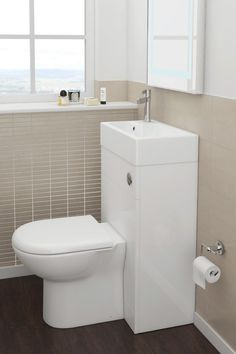 Short on space? Combined 2 in 1 toilet and basin units are absolutely perfect for small bathrooms. Trust us, these stylish, practical fixtures are about to take off! Small Bathroom, Tiny Bathrooms, Toilet, Toilet Sink, Basin Unit, Wash Basin, Small Toilet Room, Compact Bathroom, Concealed Cistern