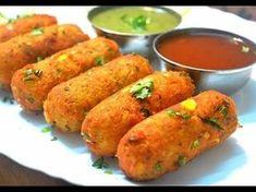 Crispy Corn Kebabs | Instant Snacks Recipe | Best Indian Appetizer Recipe | Kanak's Kitchen - YouTube Cutlets Recipes, Kebab Recipes, Veg Recipes, Indian Food Recipes, Appetizer Recipes, Snack Recipes, Cooking Recipes, Cooking Tips, Bread Recipes