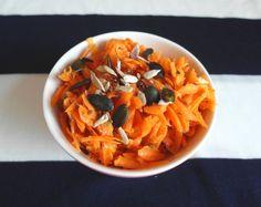 Aneta Goes Yummi: Úžasný mrkvový šalát s dresingom z pomaranča a rím...