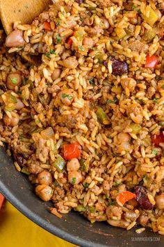 Slimming Eats Syn Free Spicy Beef, Beans and Rice - gluten free, dairy free, Slimming World and Weight Watchers friendly