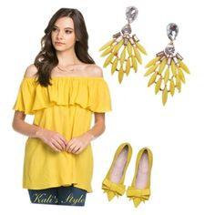 Yellow Feather Teardrop earrings Oh so stylish and on trend teardrop earrings in the perfect shade of yellow for spring/summer 2016! These resin, nickel free earrings by T&J Designs are the perfect pop of color to a neutral outfit or the perfect pair to a bright one. Stock photos courtesy of T&J Designs. T&J Designs Jewelry Earrings