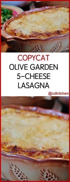 Copycat Olive Garden Lasagna This copycat lasagna is loaded with Fontina Mozzarella Ricotta Parmesan and Romano cheeses Copykat Recipes, Beef Recipes, Cooking Recipes, Pasta Recipes, Lasagna Recipes, Fondue Recipes, Chicken Recipes, Olive Garden Lasagna, Olive Garden Pasta