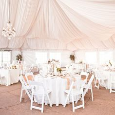 Lovely Blush and White Reception Decor // Lauren Brimhall Photography