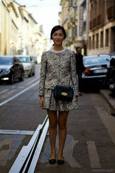 ★ Cool Chic Style and Fashion Guide ★ Mulberry Bag and Charlotte Olympia Loafers:  Nicole Warne #luisaviaroma