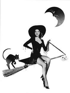 Ava Gardner, 40's photoshoot, witch