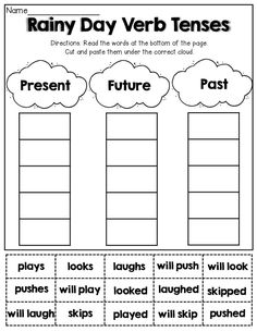 Verb Tenses (cut and paste):