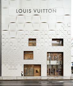 Louis Vuitton Matsuya Ginza Facade Renewal / Jun Aoki & Associates trama escala reduccion de modulo fachada