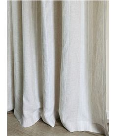 Give your bathroom decor an easy makeover with this shower curtain made with yarn dyed coastal striped linen. Striped Shower Curtains, Custom Shower Curtains, Oxygen Bleach, Romantic Room, Hanging Curtains, Striped Linen, Fabric Swatches, Natural Linen, Linen Fabric