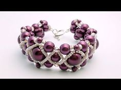 Video: TheHeartBeading: Pearl Bracelet #Seed #Bead #tutorials
