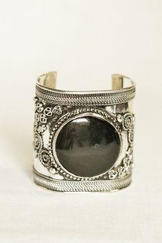 antiqued stone cuff