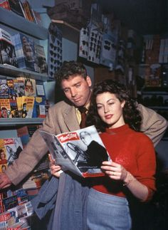 "Ava Gardner and Burt Lancaster photographed by Lee Weber for ""The Killers"" (1946)."