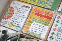 Good way to use patterned paper 3x4's