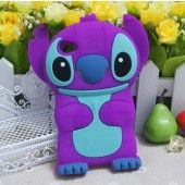 Purple 3D Cuites Stereoscopic Cartoon iPod 4 Cases Cover for iPod Touch 4 / 4th / 4G / itouch Gen Generation