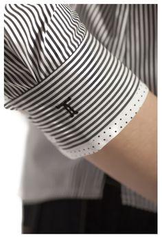 Lovely Shirt detail. Stripes & Polka dot