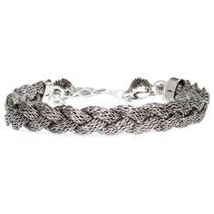 Les trouvailles d'Elsa - Bracelet Tresse argenté (Gas bijoux)