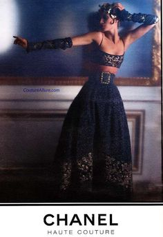 The style, the divine feminine moment, the dance movement - perfect on many levels.    From: Couture Allure Vintage Fashion: Chanel 1993 - 94