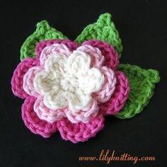 free crochet flower pattern by SandraOos@123