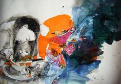"Saatchi Online Artist: Fotini Hamidieli; Charcoal, 2010, Drawing ""preparation"""