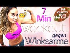 Oberarme straffen - Winkearme wegtrainieren - Workout gegen schlaffe Haut - Schöne Arme - YouTube