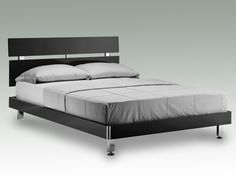 LPD Novello Double Black Gloss Bed Frame - Father's Day gift