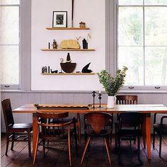 Wonderful mismatched chairs - photo by Solvi Dos Santos