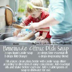 Homemade safe dish soap