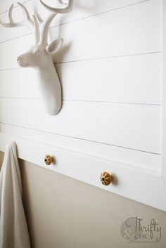 No Power Tools Needed. You Won't Believe This Technique! How to do shiplap. How to put up shiplap tutorial. Shiplap Bathroom, Small Bathroom, Bathroom Ideas, Bathroom Canvas, Washroom, Bathroom Designs, Faux Shiplap, Shiplap Diy, Painting Shiplap