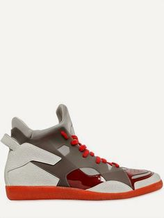 Chopped & Skewed: Maison Martin Margiela Neoprene & Leather High Top #Sneakers ~ #SHOEOGRAPHY #mensshoes