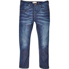 Mid wash Ethan skinny tapered jeans #riverisland #RImenswear