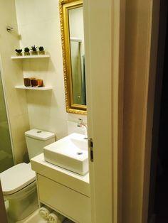 Espelho veneziano - banheiro - apartamento