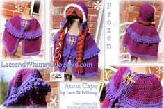 Lace and Whimsy: Free Crochet Pattern Frozen Anna Cape Costume