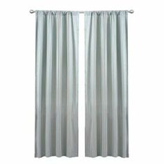 """Add a pop of style to your master suite or den with this lovely curtain, showcasing blue stripes and a rod pocket design.      Product: Curtain       Construction Material: 100% Polyester and chenille  Color: Blue    Features:Chenille stripesRod pocket slides onto curtain rod for installation    Dimensions: 84"""" H x 42"""" W Note: Image depicts two panels, but price is for one Cleaning and Care: Dry clean"""