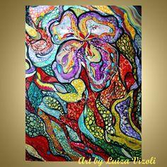 Abstract 40 Painting Original Artwork Flowers by LUIZAVIZOLI