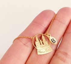 New York City Necklace, Personalized Necklace, initial Necklace, NYC necklace…