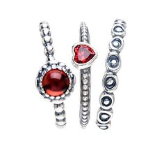Pandora Sweetie Heart Ring Stack