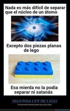 SEGUNDA LEY DE LEGO - Es físicamente imposible separar dos piezas juntas   Gracias a http://www.cuantarazon.com/   Si quieres leer la noticia completa visita: http://www.skylight-imagen.com/segunda-ley-de-lego-es-fisicamente-imposible-separar-dos-piezas-juntas/