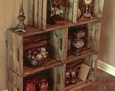 Set of Six Extra Large Wood Crates   24L x 18W x 11 di TheCrateCo