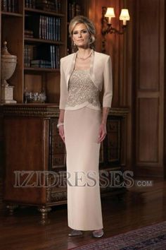 Sheath/Column Square Ankle-Length Mother Of The Bride Dress
