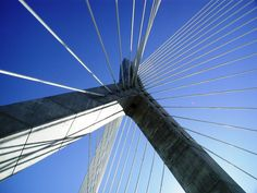 Boston, Zakim bridge, the day that was open to the public, we could walk on it (2002-10-12)