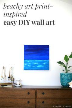 Ocean prints & paintings, and easy DIY wall art: Create / Enjoy
