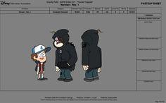gravity falls character production art - Google Search